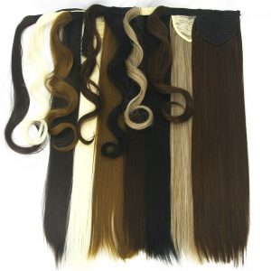 Soowee 10 Colors Long Straight High Temperature Fiber Synthetic Hair Pieces Extensions Pony Tail Hair Drawstring Ponytails