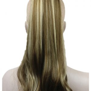 Brown Highlights Lady Clip In Ponytail Pony Tail Hair Extension Claw On Hair Piece Straight many COLOUR CHOICES