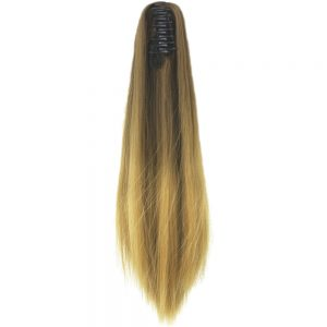 Soowee 60cm Straight Synthetic Hair Clip In Hair Extension Brown Blonde Ombre Hair Claw Ponytail Hairpieces My Little Pony Tail