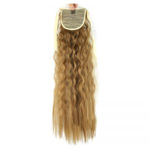 Soloowigs Bouncy Curly Synthetic Hair Extension Long Clip-in Ponytails 8 Color Bang Tails for Women