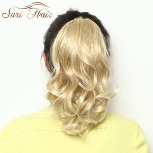 Suri Hair Claw Clip Ponytail Curly Hair Extensions Women's Blonde Synthetic Hairpieces