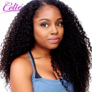Celie Brazilian Kinky Curly Virgin Hair 100g One Piece Hair Bundles Natural Color 100% Unprocessed Human Hair Weave Bundles