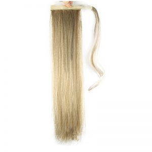 Soloowigs Kinky Straight High Temperature Women Long Ponytails 60cm/24inch Synthetic Hair Extensions