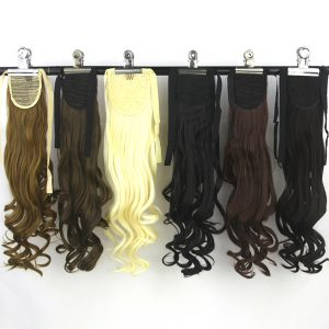 Soowee High Temperature Fiber Synthetic Curly Ponytail Hairpiece Brown Blonde Hair Extension Fairy Tail Pony Hair Piece
