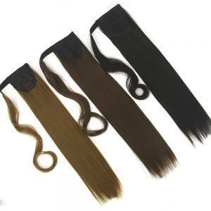 Soowee 10 Colors Long Straight High Temperature Synthetic Hair Ponytail Pony Tail Hair Extensions Hairpiece
