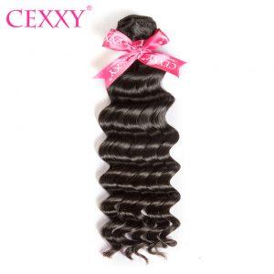 CEXXY Brazilian Virgin Hair Natural Wave Natural Color 100% Human Hair Weave Bundles Free Shipping