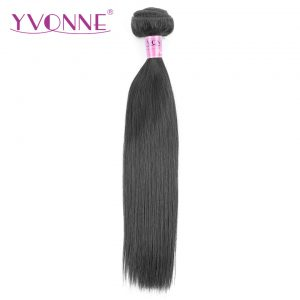 Yvonne Brazilian Straight Virgin Hair 1 Piece Natural Color 100% Human Hair Weaving Free shipping