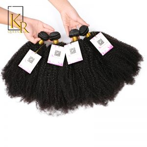 King Rosa Queen Brazilian Afro Kinky Curly Virgin Hair Weave Double Weft Human Hair Bundles 8-24inches Extensions