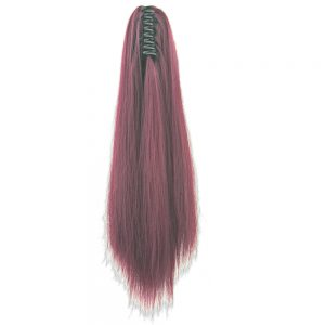 Soowee 15 Colors Long Straight Clip In Hair Extensions Red Little Pony Tail High Temperature Fiber Synthetic Hair Claw Ponytail
