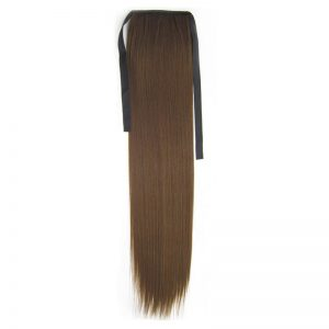 Soloowigs Yaki Straight Fake Hair Long Natural One Clip In Bundled Ponytails Multi-color For Choose