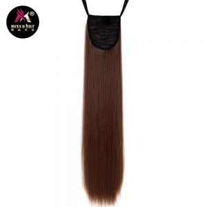 "Miss U Hair 24"" 60cm 18 Colors Long Straight Ribbon Ponytail Synthetic Clip in Ponytails hair extension"