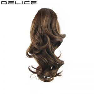 "[DELICE] 14""/36cm Clip In Women's Wavy Claw Ponytail With Elastic Drawstring Heat Resistance Fiber Synthetic Hair"