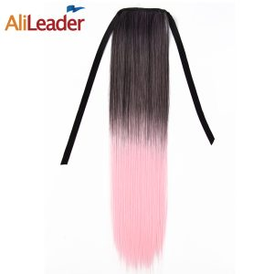 "AliLeader Drawstring Ponytail Piece With Clip On 100G 20"" 51CM High Temperature Synthetic Fake Hair Pieces"