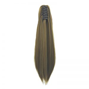 Soloowigs Yaki Straight Long Synthetic Hair 22inch/55cm Claw In Ponytails for American and European Women 15 Color