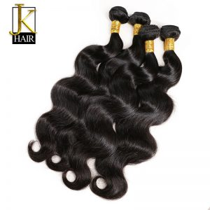 JK Hair Brazilian Virgin Hair Extension Body Wave 100% Human Hair Weave Bundles Unprocessed Natural Color Can Be Dyed No Tangle