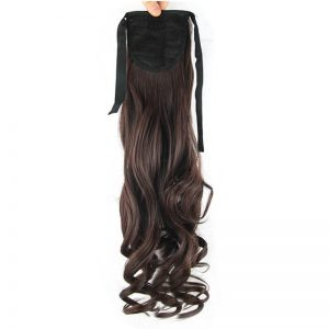 Soloowigs Loose Wave Women Long Synthetic Hair Extension 22inch/55cm Clip-in Bundled Ponytails