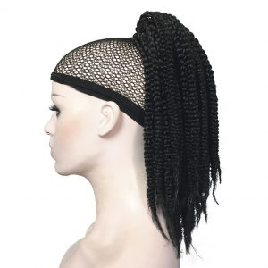 StrongBeauty African American Braids Braided Ponytail Hairpiece Claw Clip on extensions Black