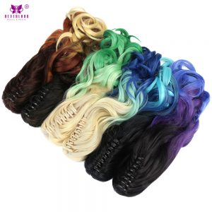 "Neverland 20"" 50cm Long Wavy Ombre Hair Synthetic Claw in Ponytail High Temperature Fiber"