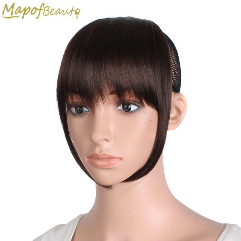 Cheap Human Hair Wigs Hair Extensions Short Front Blunt Bangs