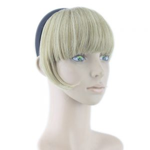 Soowee 8 Colors  Hair Bangs with Clip Blonde Black Synthetic Hairpieces High Temperature Fiber Hair Fringe