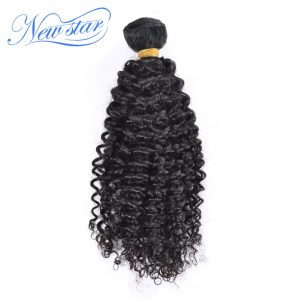 Brazilian Afro Kinky Curly Virgin Hair One Bundles Guangzhou New Star Hair Weaving Unprocessed Natural Color For Black Women