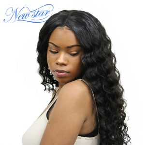 Brazilian Natural Wave Virgin Hair One Bundles Natural Color 100% Unprocessed Guangzhou New Star Human Hair Weaving
