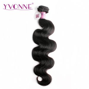 Yvonne Brazilian Body Wave Virgin Hair 1 Piece Natural Color 100% Human Hair Weaving Free shipping