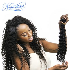 New Star Hair Brazilian Curly Virgin Human Hair Wave 1 Bundles 10-30 Inches Natural Color 100% Unprocessed Hair Weaving