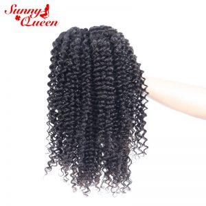 Brazilian Virgin Hair 100% Human Hair Bundles 1 Piece Kinky Curly Hair Extxtensions Sunny Queen Hair Products  Free Shipping
