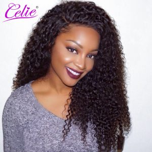 Celie Hair Curly Weave Human Hair 100g/Piece Brazilian Hair Weave Bundles Natural Color Unprocessed Virgin Hair Bundles