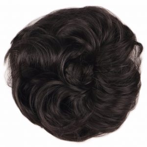 QQXCAIW Women Natural Red Blonde Black Brown Synthetic Hair Hair Extension Roller Fast Bun Donut Chignon