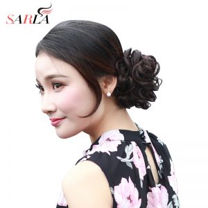 SARLA Synthetic Hair Chignons Elastic Scrunchie Extensions Hair Ribbon Ponytail Hair Bundles Updo Hairpieces Hair Buns H2