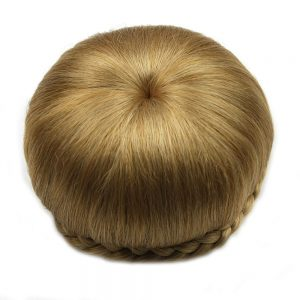 Soloowigs Heat Resistant Fiber Pure Color Women Braided Chignon Synthetic Hair Buns for the European and American