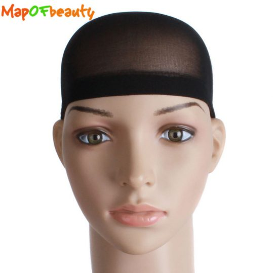 MapofBeauty 10PCS/set Stretchable Cap Mesh Weaving Black Flesh color Wig Hair Net Making Caps Hairnets Hair Mesh synthetic hair