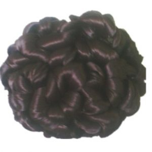 Clip Inside Curly Chignon Fei-Show Picture Color Synthetic Bobs Heat Resistant High Temperature Hair Flower Image Buns