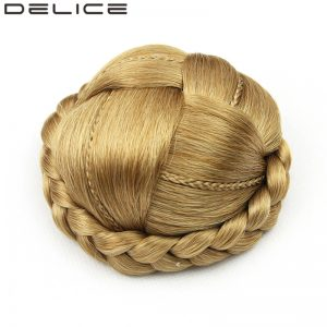 [DELICE] Pure Color 50gr Women's Clip In Synthetic Braided Chignon High Temperature Fiber Hair