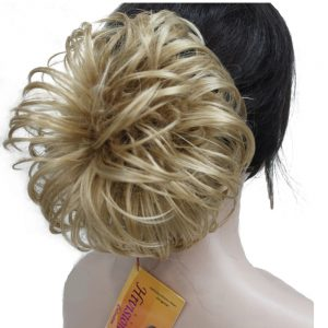 StrongBeauty Messy Curl Scrunchies Hair Bun Extension Blonde/Brown Hairpiece Chignon 4 Color