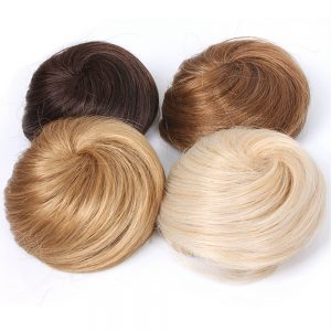 Soowee 8 Colors Synthetic High Temperature Fiber Curly Hair Chignon Clip In Hair Bun Donut Roller Hairpieces