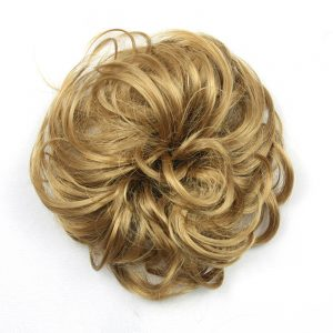 Soowee 30 Colors Available Synthetic Hair Headband High Temperature Fiber Hair Bun Chignon Hair Donut Roller Hairband Scrunchie