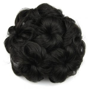 Soowee 8 Colors Synthetic High Temperature Fiber Curly Flower Hair Chignon Rubber Band Hair Bun Donut Roller Hairpieces