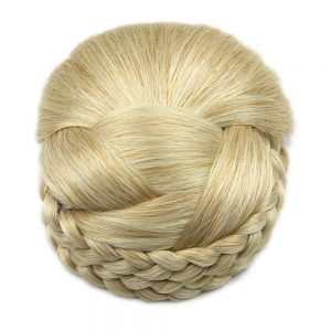 Soowee 6 Colors Knitted Braided Hair Chignon High Temperature Fiber Synthetic Hair Donut Fake Hair Bun