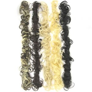 Soowee 80cm Long Synthetic Hair Bun Curly Hair Extension Headband Hair Donut Roller Hairband Scrunchie UPDO Hair Chignon