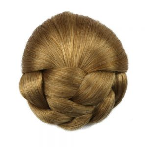 Soloowigs Heat Resistant Fiber 6 Colors Women Clip-in Braided Chignon Synthetic Hair Buns for Brides