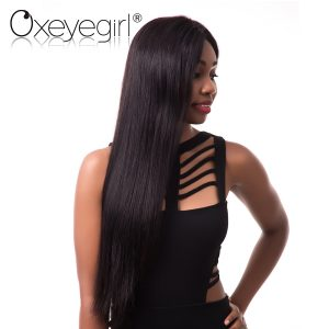 Oxeye girl Brazilian Hair Weave Bundles Remy Hair Extensions Natural Color Straight Human Hair Can Buy 3/4 Bundles With Closure