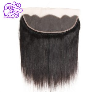 Ashimary Hair 13*4 Ear to Ear Lace Frontal Closure Brazilian Straight Human Hair Free Part Natural Color Remy Hair Free Shipping