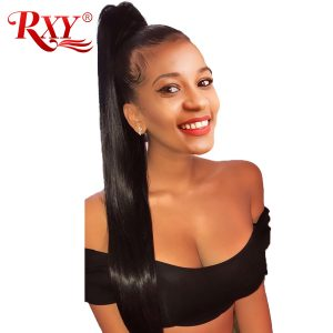 RXY Pre Plucked 360 Lace Frontal Closure Brazilian Straight Closure With Baby Hair 130% Density Remy Human Hair Lace Closures