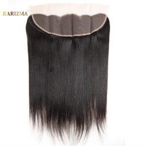 Karizma Brazilian Straight Hair Lace Frontal Closure 13x4 Swiss Lace Ear To Ear Remy Human Hair Closure Free Shipping