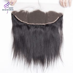 Modern Show Straight Remy Hair 13x4 Pre-plucked Lace Frontal Closure with Baby Hair Free Part Frontal 100% Human Hair Free Ship