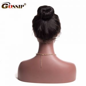"Pre Plucked 360 Lace Frontal Closure Gossip 10-24"" Ear To Ear Human Hair Closure With Baby Hair Brazilian Non Remy Hair Straight"