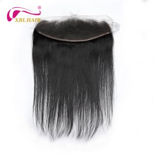 "XBL HAIR 13x4 Lace Frontal Closure Free Part Straight Ear To Ear With Baby Hair Brazilian Remy Hair 10-20"" Free Shipping"